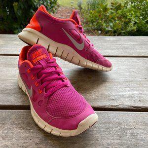 Nike Free 5.0 Fusion Pink Metallic Silver Shoe 4.5